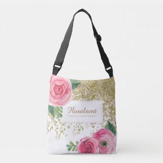 Bolso adaptable elegante de los rosas de Boho Bolsa Cruzada