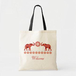 Bolso adornado de los elefantes bolsa tela barata