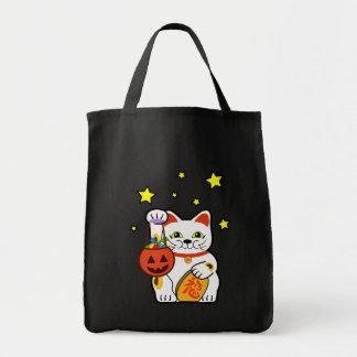 Bolso afortunado de Halloween del gato de Hallowee Bolsa Tela Para La Compra