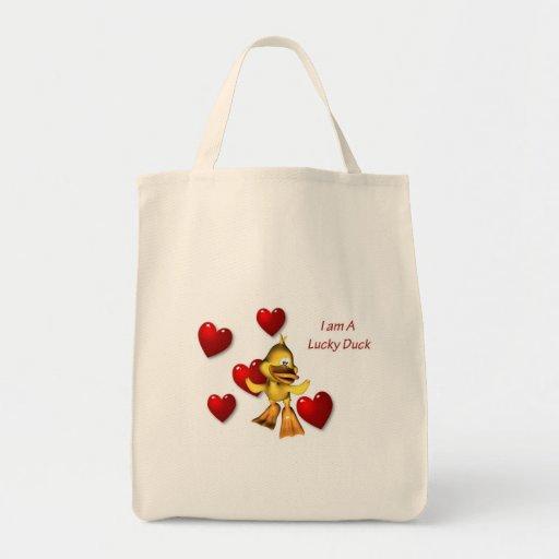 Bolso afortunado del amor del pato bolsas de mano