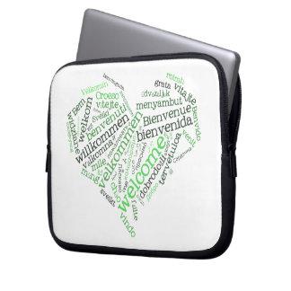 Bolso agradable del ordenador portátil del corazón manga computadora