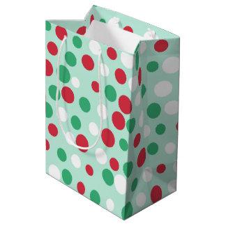 Bolso alegre del regalo de los puntos bolsa de regalo mediana