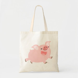 Bolso alegre lindo del cerdo del dibujo animado bolsa tela barata