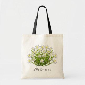 Bolso alpino de las flores de Edelweiss del suizo Bolsa De Mano