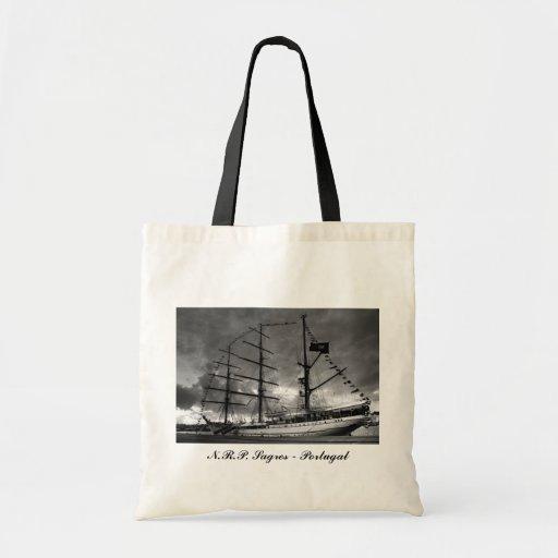 Bolso alto portugués de la nave bolsa tela barata