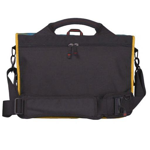 Bolso amarillo azul del viajero bolsas para portátil