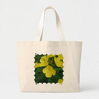 Bolso amarillo de la lona de la primavera bolsas