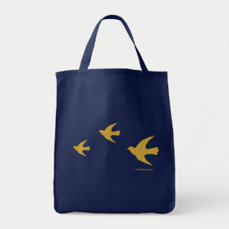 Bolso amarillo de los pájaros bolsas