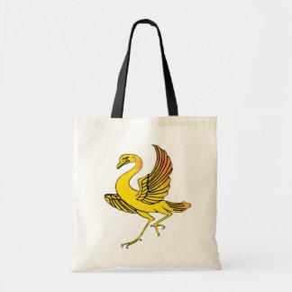 Bolso amarillo del pájaro bolsas de mano