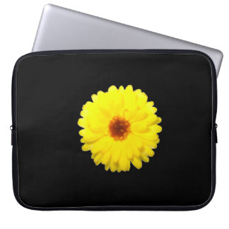 Bolso amarillo fluorescente del ordenador portátil mangas portátiles