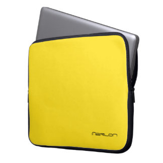 Bolso amarillo lleno del ordenador portátil para fundas computadoras