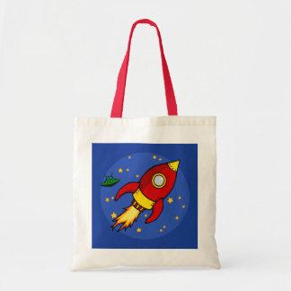 Bolso amarillo rojo de Rocket Bolsa Tela Barata