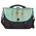 Bolso ambarino y azul de las jirafas bolsas de portatil