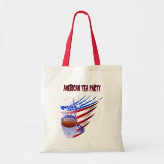 Bolso americano de la fiesta del té bolsa tela barata