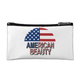 Bolso americano del maquillaje de la belleza