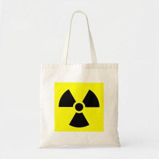 Bolso amonestador del logotipo de la radiación bolsa tela barata