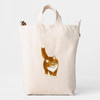 Bolso anaranjado amistoso de BAGGU del gatito del Bolsa De Lona Duck