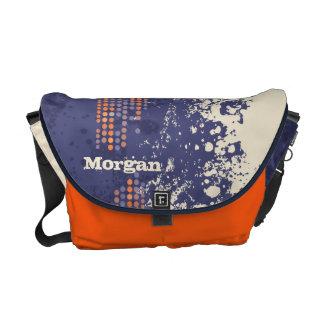 Bolso anaranjado del personalizado del estilo de bolsas de mensajería