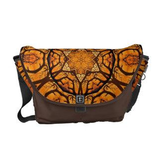 Bolso anaranjado llamativo del carrito de la estre bolsas messenger