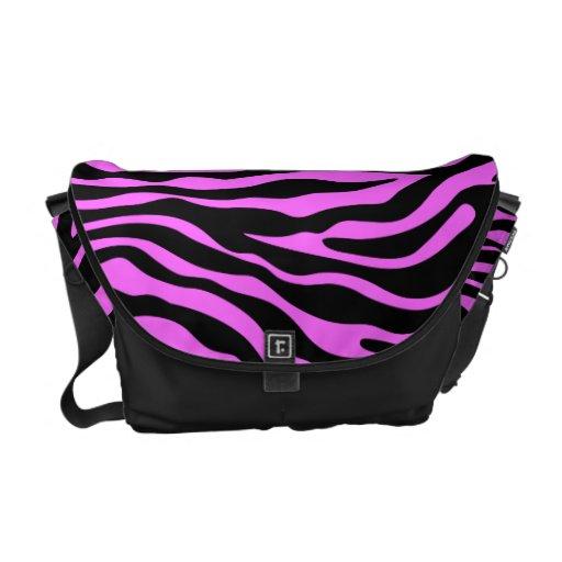 bolso animal del modelo del estampado de zebra de  bolsas de mensajeria