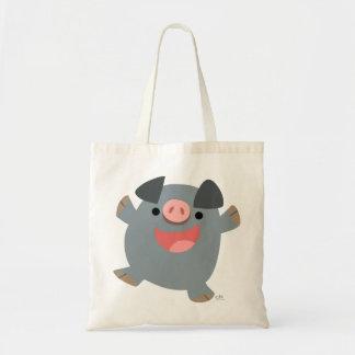 Bolso animoso del cerdo del dibujo animado lindo bolsas