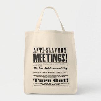 Bolso anti de la reunión de la esclavitud bolsa tela para la compra