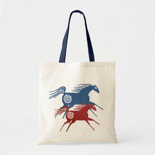 Bolso antiguo de dos caballos bolsa