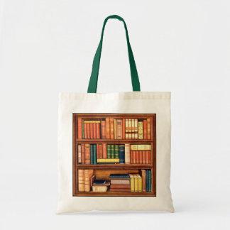 Bolso antiguo del estante de la biblioteca de los  bolsa tela barata