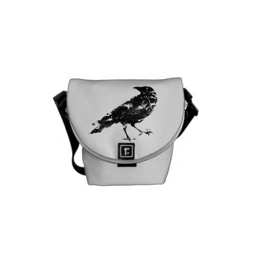 Bolso apenado del cuervo bolsa de mensajeria