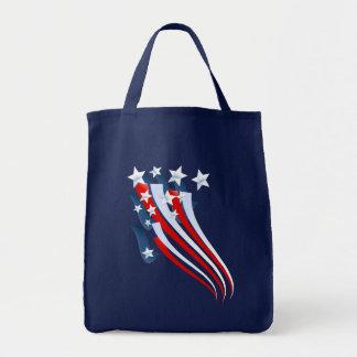 Bolso arrebatador de la bandera americana bolsa tela para la compra