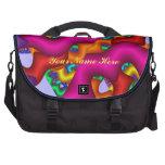 Bolso artístico personalizado del viajero del bolsas de portátil
