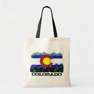 Bolso artsy del horizonte de Denver de la bandera