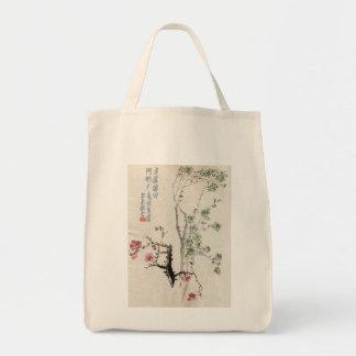 Bolso asiático de la flor de cerezo del vintage bolsa tela para la compra