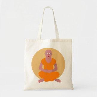 Bolso asombroso Meditating del monje Bolsa Tela Barata