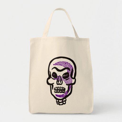 Bolso asustadizo de Halloween del cráneo Bolsa De Mano