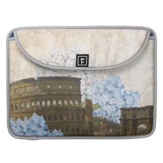 Bolso azul antiguo del MAC del Hydrangea de Roma Funda Para Macbook Pro