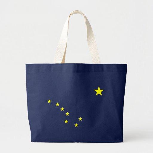 Bolso azul de la bandera del estado de Alaska Bolsa Lienzo