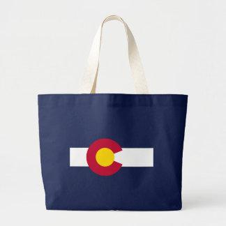 Bolso azul de la bandera del estado de Colorado Bolsa Tela Grande