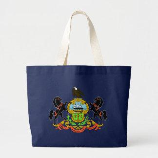 Bolso azul de la bandera del estado de Pennsylvani Bolsa De Mano
