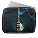 Bolso azul de la electrónica de la guitarra eléctr manga portátil