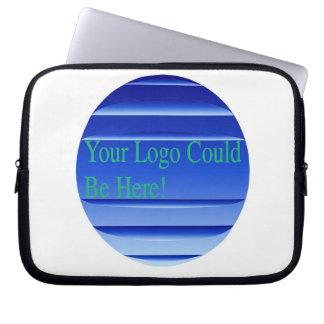 Bolso azul de la electrónica del logotipo del nego manga computadora