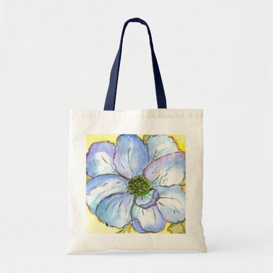 Bolso azul de la flor