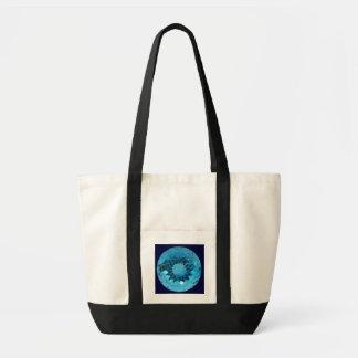 Bolso azul de la piedra preciosa bolsa tela impulso