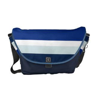 Bolso azul de la vaca bolsas messenger