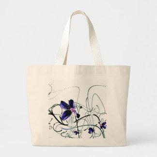 Bolso azul de las flores bolsas