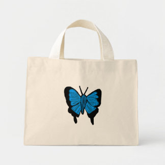 bolso azul de las mariposas del swallowtail bolsas