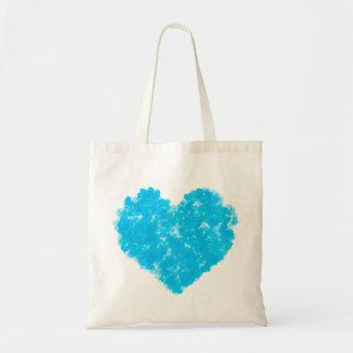 Bolso azul de los corazones bolsa de mano