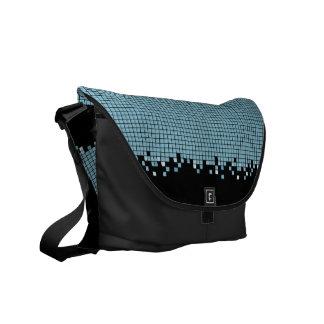 Bolso azul de los pixeles bolsas de mensajeria