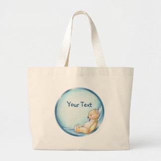 Bolso azul de Teddybear Bolsa Tela Grande