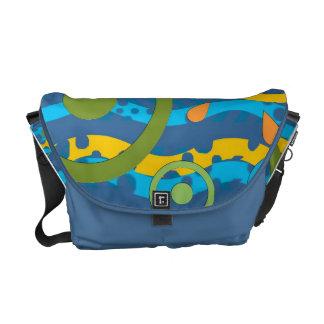 Bolso azul del claro de luna bolsa messenger